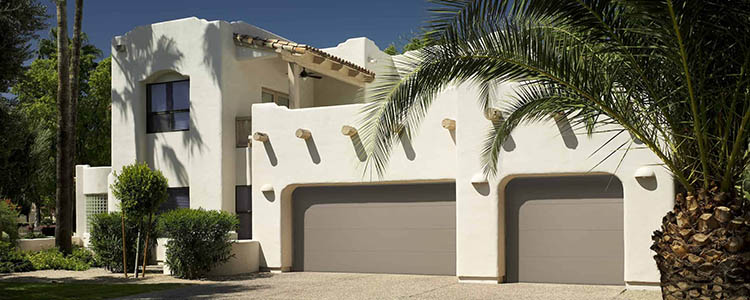 modern flush garage door